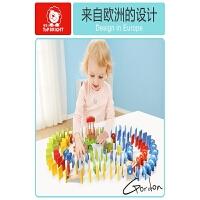 字母数字多米诺玩具益智玩具动物桶装多米诺骨牌玩具