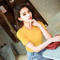 短袖t恤女百搭夏装2018新款女上衣韩版学生修身打底衫chic衣服女