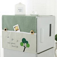 海尔冰箱双开门布罩定制清新冰箱盖布收纳冰箱罩微波炉烤箱盖巾布艺冰箱罩滚筒防尘罩