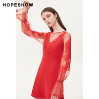 活动到手价124丨红袖收腰显瘦蕾丝裙背心裙