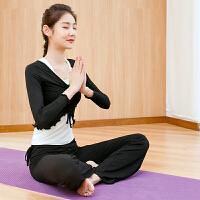 瑜伽服套装女2018新款显瘦专业运动长袖三件套莫代尔晨跑步健身服