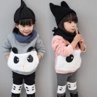 女宝冬装1-3岁2女童套装2017韩版潮衣4一6女宝宝两件套公主纯棉冬