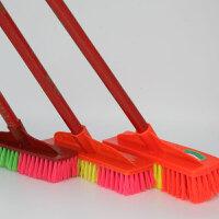 地刷硬毛长柄洗地板瓷砖浴室卫生间清洁刷子家用工厂学校清洁用品(10把)