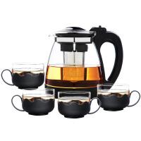 白领公社 茶壶 耐高温茶壶花茶泡茶壶家用大容量茶具不锈钢过滤冷水壶2000ML