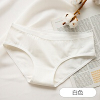 全棉运动字母少女中腰女士三角裤头纯棉内裤女性感无痕女学生底裤