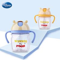 迪士尼 新品迪士尼防漏防呛学饮杯 维尼熊婴幼儿TRITAN奶瓶吸管杯