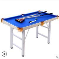 时尚耐用家用 成人美式球乒乓球桌面儿童台球桌标准黑8台球桌