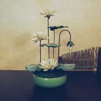 百荷花仿真花塑料莲花摆件高品质佛前供花古风中国风禅意茶桌装饰