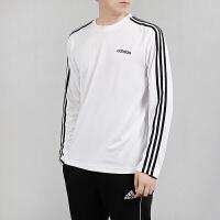 Adidas阿迪达斯男装 2019秋季新款休闲透气舒适长袖T恤套头卫衣EI5646/EI5647