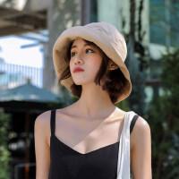 户外帽子女韩版潮渔夫帽遮阳帽防晒百搭日系时尚ins太阳帽