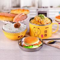 双层304不锈钢饭盒 小学生可爱女日式2层儿童卡通餐盒便当盒 支持礼品卡支付