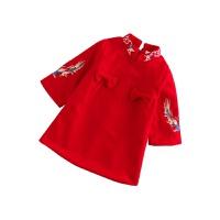 宝宝衣服周岁礼服女秋冬款加厚保暖旗袍裙一岁婴儿女童公主连衣裙 红色 收藏宝贝优先发货