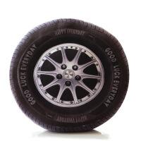 创意3D毛绒玩具轮胎抱枕公仔玩偶 办公室个性靠枕 沙发靠垫抱枕