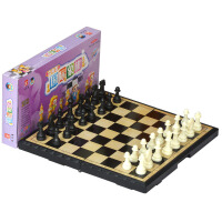 磁性国际象棋套装折叠棋盘先行者儿童大号黑白色棋