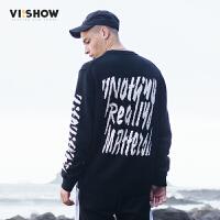 VIISHOW2017秋装新款针织衫情侣男士毛衣oversize外套韩版潮流
