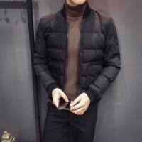 #冬季精品韩版男士修身立领棉衣型男潮