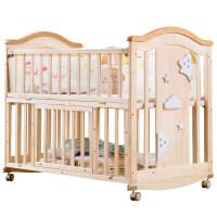 【支持礼品卡】婴儿床实木拼接大床bb宝宝床新生儿多功能可折叠摇篮床儿童床 i3v
