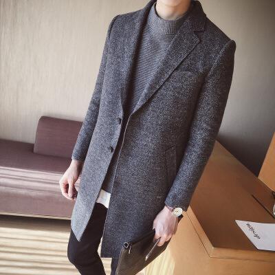 秋冬装男士风衣中长款呢大衣修身英伦男装呢子外套 一般在付款后3-90天左右发货,具体发货时间请以与客服协商的时间为准