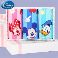 迪士尼Disney米妮米奇纱布童巾3条装礼盒 纯棉毛巾礼盒 卡通 礼物