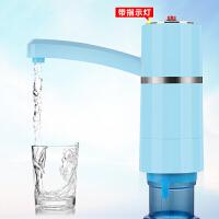 饮水器瓶装水自动上水器矿泉水桶抽水器电动创意无线上家用水桶泵 天空蓝 充电带灯 食品级抽水管