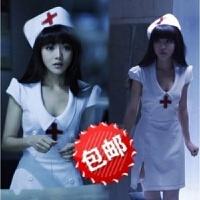 游戏制服诱惑护士装短裙性感睡衣加大码套装用品 +花边丝袜