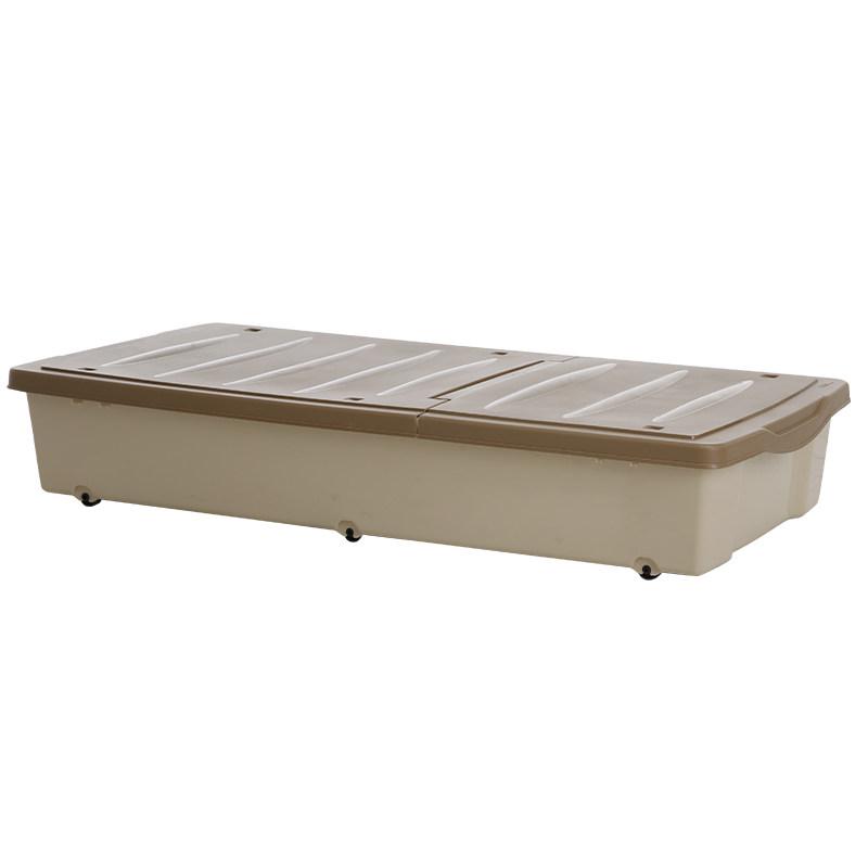 卡式滑轮床底收纳箱衣服棉被储物箱床下扁箱子近一米整理箱  床底收纳箱 单品活动