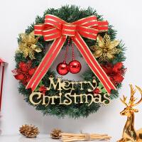 圣诞节装饰品40/50/60cm藤条花环店铺商场橱窗门楣挂饰圣诞树花圈