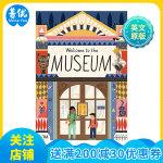 英文原版绘本 欢迎来到博物馆 Welcome to the Museum 可展开的折叠书 儿童趣味操作玩具书 3D全景