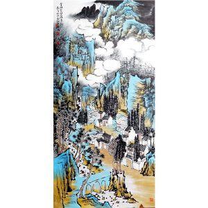 王金明   《云峰苔壁》・