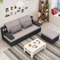 御目 布艺沙发 家用现代简约小户型客厅整装耐脏沙发三人单双人组合可拆洗储物休闲沙发满额减限时抢礼品卡家具用品
