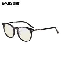音米情侣平光眼镜男款潮防蓝光大框架复古眼镜框女板材时尚护目镜7030