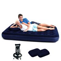 Bestway 充气床双人特大203*183cm气垫床午休床午睡床(含电动充气泵1个)露营充气垫家居客床67004
