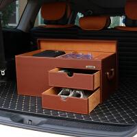 汽车收纳后备箱储物鞋盒多功能车内整理箱子后背尾箱车载置物用品