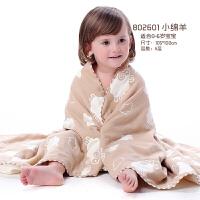 婴儿浴巾纯棉纱布柔软吸水新生儿盖毯婴儿童宝宝浴巾洗澡用品