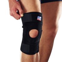 LP欧比护膝包覆调整型膝部束套758 稳定护膝羽毛球运动专业护具 单只