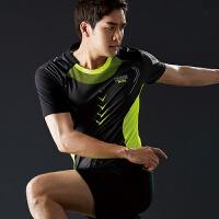 速干羽毛球服套装 情侣运动乒乓球服男女款透气短袖上衣网球训练
