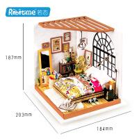 若态diy小屋 3d立体拼图拼板 创意纯手工拼装模型爱丽丝甜梦卧室 DG107爱丽丝的甜梦卧室