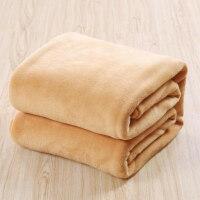 冬季珊瑚绒毯子加厚色法兰绒毛毯单人双人毛绒床单学生宿舍盖毯J