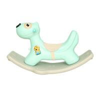 宝宝木马儿童摇马塑料婴儿摇椅周岁礼物玩具大号加厚摇摇马带音乐 薄荷绿 带坐垫故事机