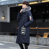 2017新款潮流冬装青年青少年羽绒服男中长款学生连帽韩版加厚修身