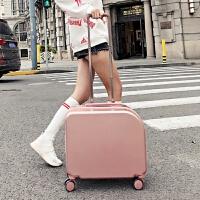 韩版女生行李箱18寸卡通登机箱小型旅行箱小清新男学生拉杆箱 18寸