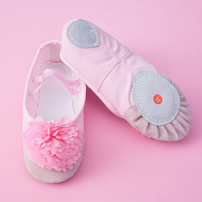 儿童舞蹈鞋软底猫爪鞋幼儿芭蕾舞练功鞋粉色女童帆布形体鞋瑜伽鞋
