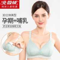 新款哺乳文胸浦孕妇内衣怀孕期专用防下垂聚拢薄款产后喂奶舒适女