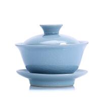 唐丰仿宋汝窑茶具整套陶瓷茶杯家用开片泡茶盖碗茶壶功夫茶具套装