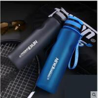 简约清新直饮水瓶学生健身磨砂水杯子1000ml户外运动水壶大容量便携随手杯
