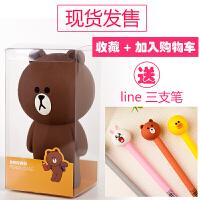 韩国立体布朗熊硅胶笔袋 大容量创意简约可爱铅笔袋文具盒女