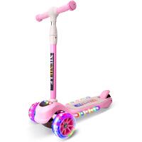 宝宝滑板车1到2岁 小孩宝宝男孩初学者3轮闪光踏划板滑滑溜溜车HW