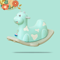 儿童塑料摇马玩具宝宝小木马车婴儿摇摇马大小号加厚婴儿周岁礼物h6k