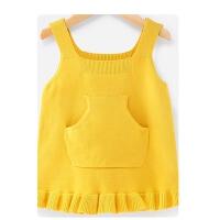 宝宝毛衣女1-3岁儿童春装女童毛线衣小童套头衫春秋5婴儿针织背心