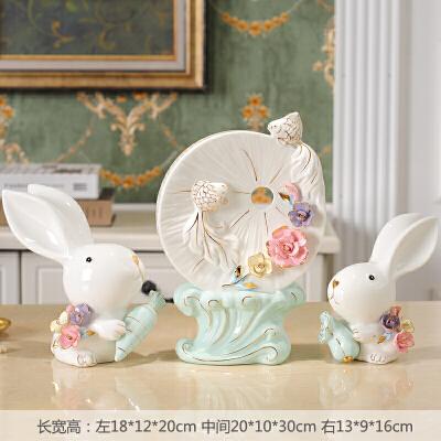 酒柜摆件兔子工艺品室内电视柜卧室装饰品招财小摆设客厅创意家居